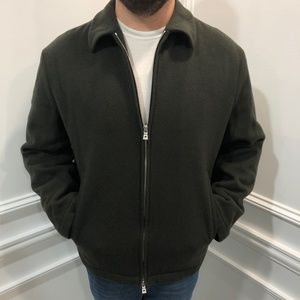 Hugo Boss 40 Cashmere Bomber Jacket Olive Green
